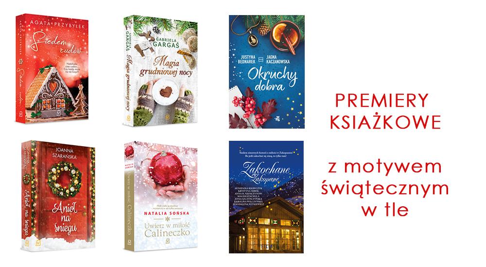 Premiery książkowe z motywem grudniowo-świątecznym w tle  //  Pomysł na prezent dla NIEJ