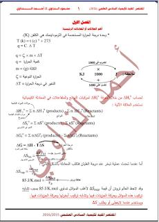 المختصر المفيد في الكيمياء للصف السادس العلمي للأستاذ المبدع احمد النداوي 2017
