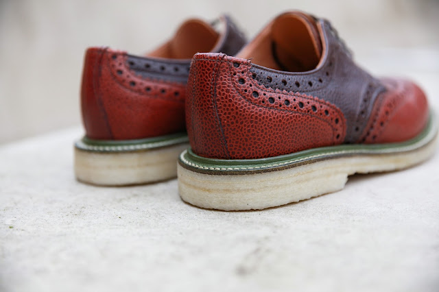j shoes x sanders collaboration, british made brogues worn by men's fashion blogger mat buckets in manchester