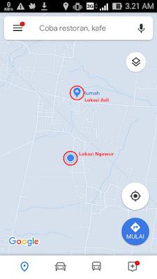 Lokasi  Maps Tidak Akurat