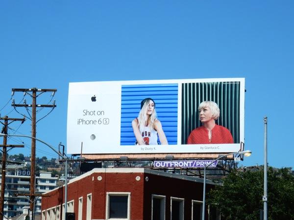 Shot on iPhone 6s Dusty K Gianluca C billboard