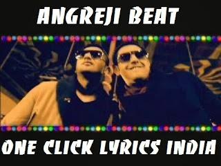 Angreji Beat Song Lyrics