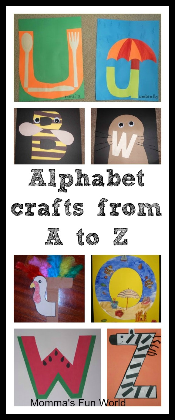 letter alphabet crafts momma s world alphabet crafts for each letter 6932