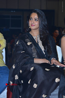 Actress Anushka Anushka Shetty Stills in Black Salwar Kameez at Om Namo Venkatesaya Audio Launch Event  0021.JPG