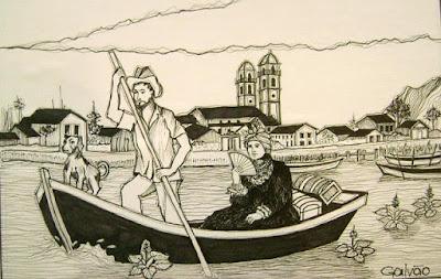 Rita Galdino, na imaginação do artista iguapense José Galvão.