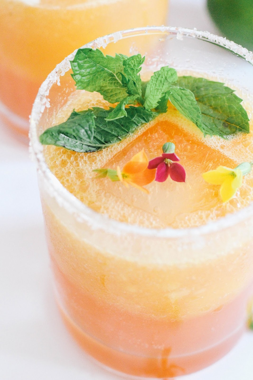August is National Peach Month and there is no better way to enjoy this fruit than in this delicious margarita!