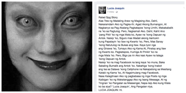 Spine-chilling story of Lucia Joaquin terrifies netizens