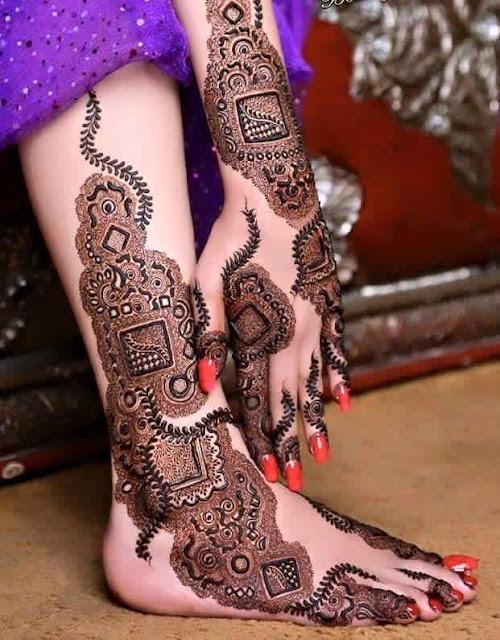 Khaleeji Mehndi Designs For Full Feet 2016 Images And Pics