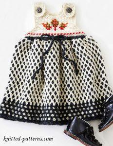 wzór sukieneczki szydełkiem