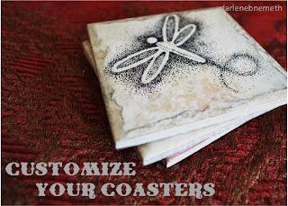 DIY Ceramic Tile Coasters.