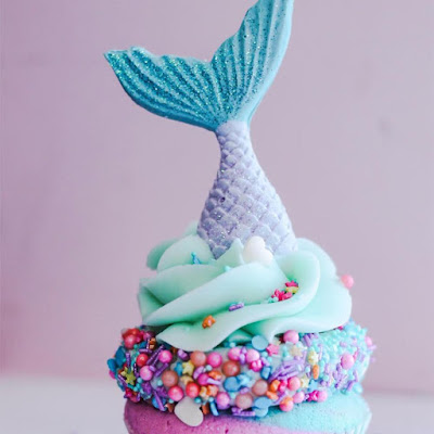 sweet sprinkles mermaid tail cupcake