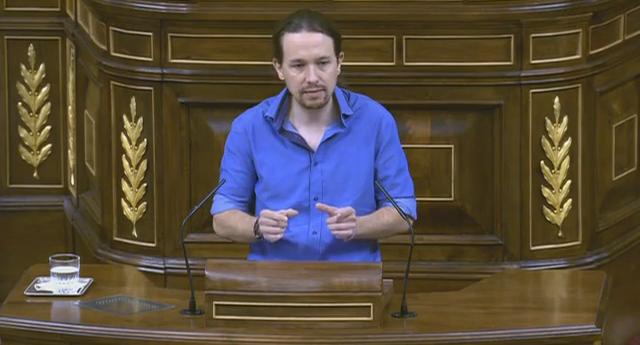"""Pablo Iglesias: """"La obligación del Gobierno es hacer que se cumpla la ley y las eléctricas no la están cumpliendo"""""""