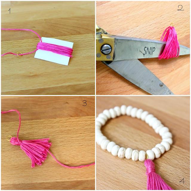Οδηγίες για Χειροποίητα βραχιόλια με φούντες / DIY Tassel Bracelet Tutorial