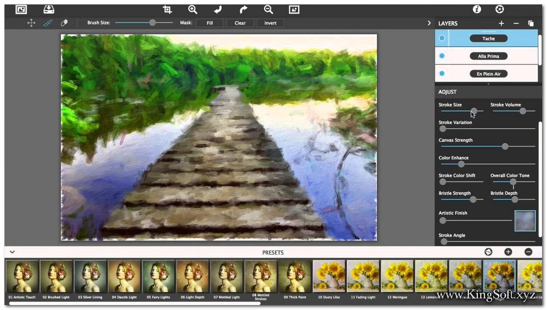 JixiPix Artista Impresso Pro 1.8.7 Full Key, Phần mềm biến bức ảnh thành 1 nghệ thuật