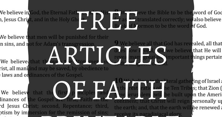 photo relating to 13 Articles of Faith Printable referred to as mimiberry creations: Cost-free Article content of Religion Higher Printable