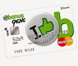 bonus genç kredi kartı