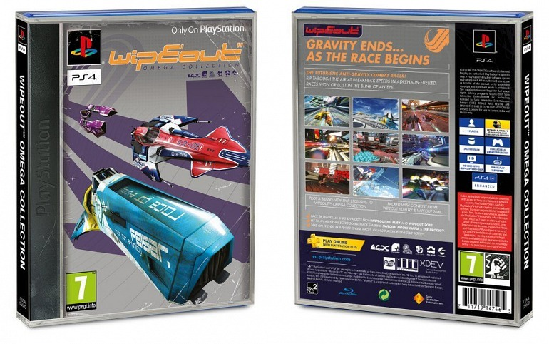 WipEout Omega Collection hará honor a PS1 con su caja