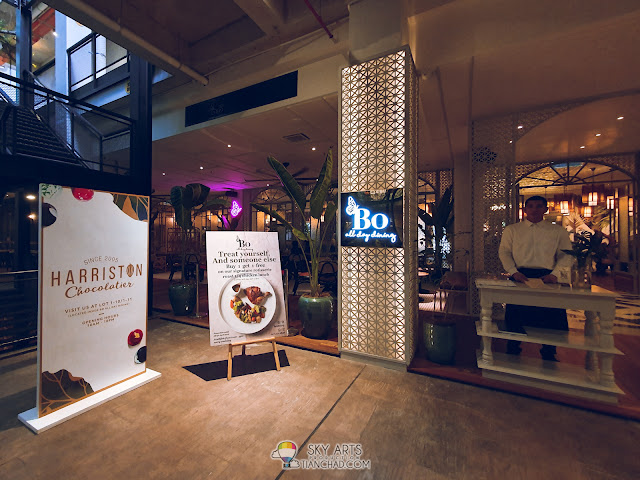 BO Dining KL Most Instagrammable spot in Kuala Lumpur The LINC KL Mall with colorful owl mural arts colorful stairs