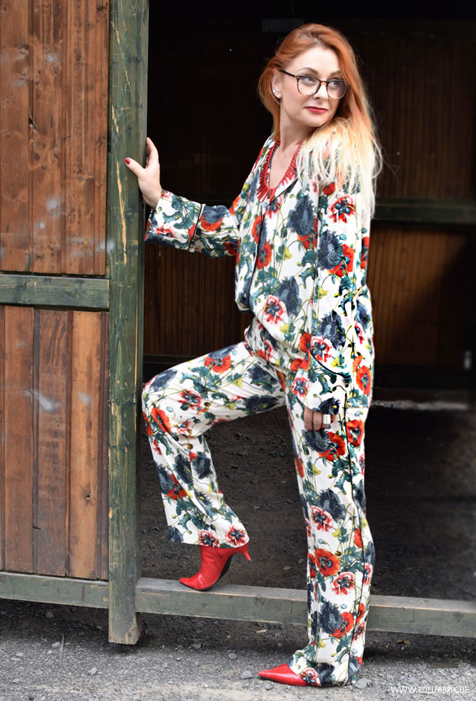 pyjama allover outfit, pyjama h&M