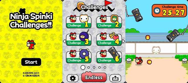 Ninja Spinki Challenges gioco Android e iPhone