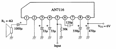 1 watt audio power amplifier circuit ~ AmplifierCircuits.com