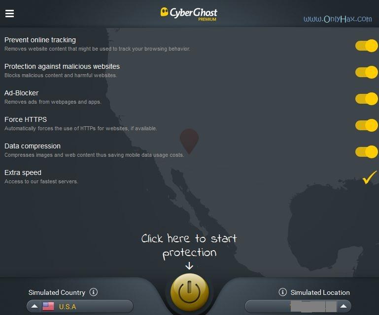 cyberghost premium account 2016