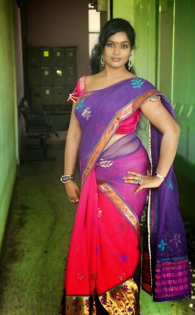 Jayavani hot Aunty Hot Photos In Saree