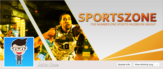 Download Free PSD Facebook Cover Design for Basketball Sports Fan Free for Personal and Commercial use