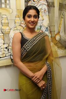 Actress Regina Stills in Green Saree at Vivaha Bhojanambu Restaurant Launch  0109.JPG