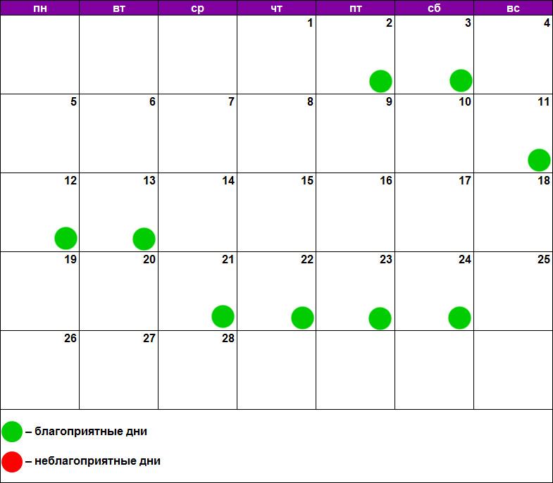Лунный календарь массажа февраль 2018