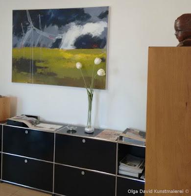 Acrylgemälde für Büro, 140x100cm.Kunst für Ihr Arbeitsplatz