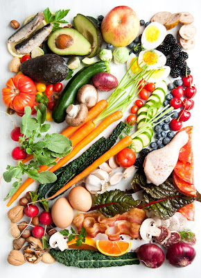 An assortment of colorful, healthy foods