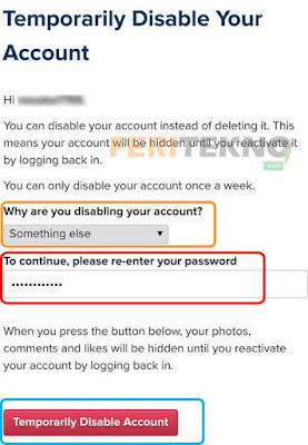 cara menghapus akun instagram dari handphone 4