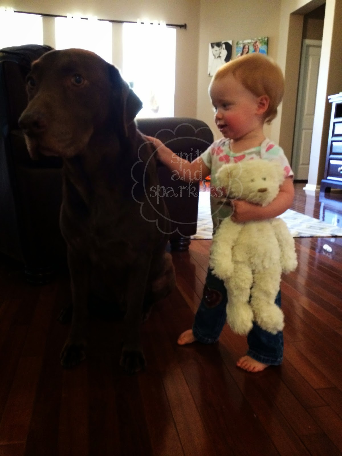 """Forming an attachment to a lovey is common in """"toddlerdom."""" A story of a girl and her bear by Spit and Sparkles. #lovey #friends"""