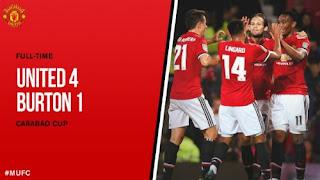Manchester United Menang 4-1 atas Burton Albion - Piala Liga Inggris