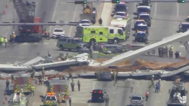 Se desplomó puente en Miami (+Corrupción + Varios muertos)