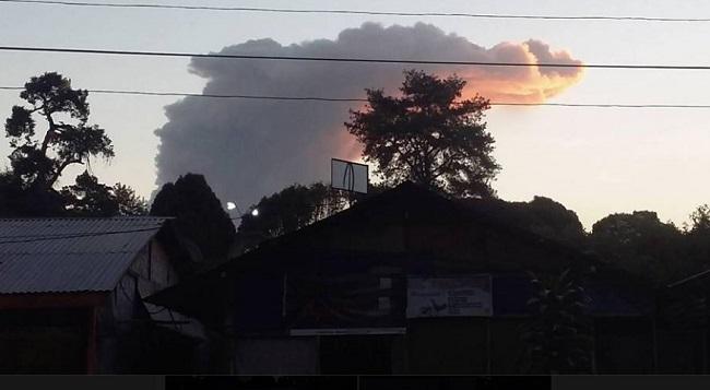Foto: Gunung Sinabung 3 Juli 2016 Ngamuk Lagi