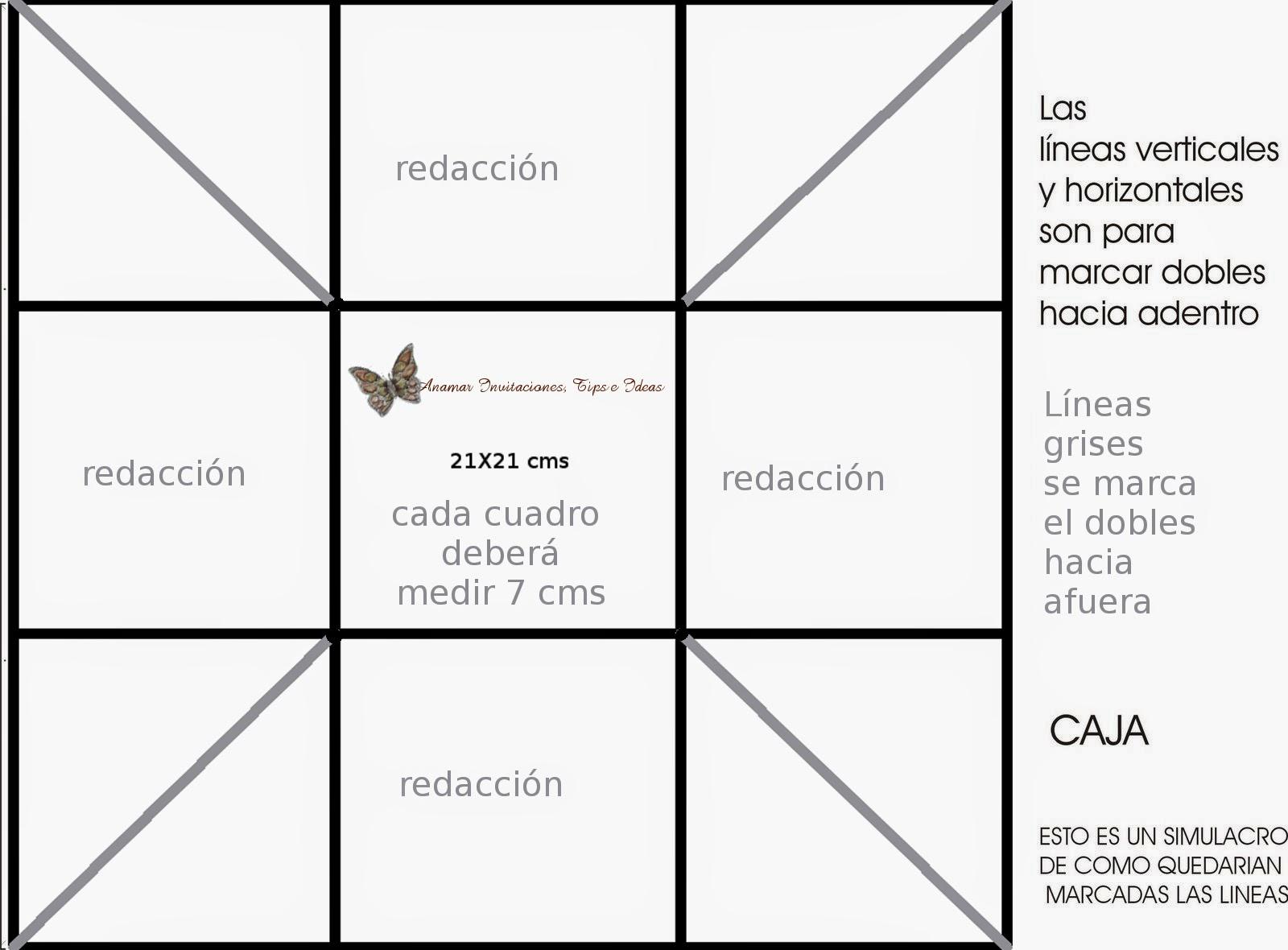 Molde Para Imprimir De Laco Lonita De Cilicone: CAJITA PARA INVITACION