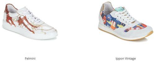 c27a01b0a81 Vaak is de basis een witte sneaker waarop de designers zich met unieke  prints op hebben mogen uitleven. In veel gevallen is het eindresultaat een  kleurige ...