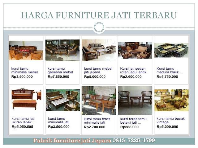 Harga furniture jati terbaru
