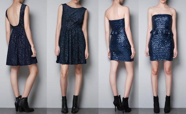 vestidos de nochevieja zara azules