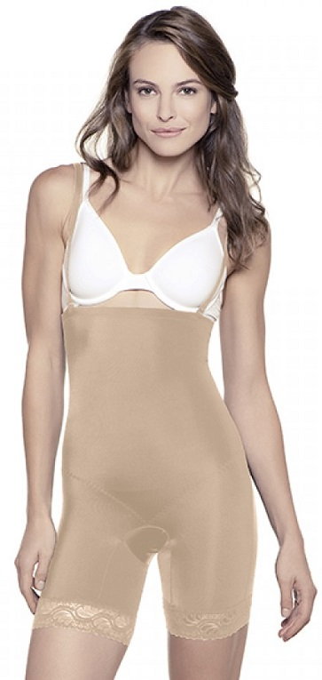 Mid-Thigh Bodysuit with any type of bra