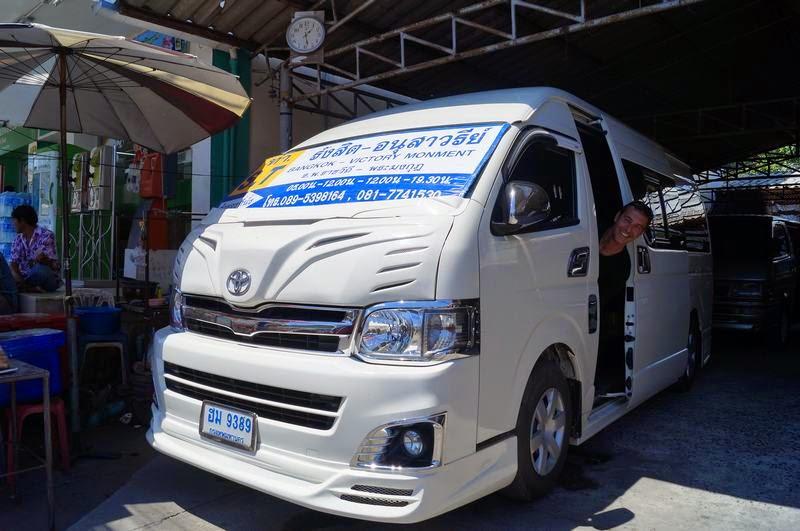 vans tailandia, furgonetas de ayutthaya a bangkok, transporte a ayutthaya