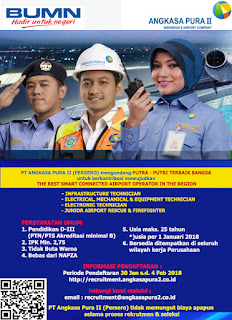 Lowongan Kerja BUMN Februari 2018 - PT Angkasa Pura II (Persero)