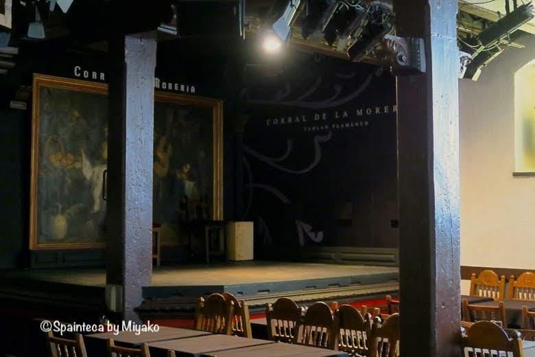Corral de la Moreria マドリードのフラメンコタブラオの舞台