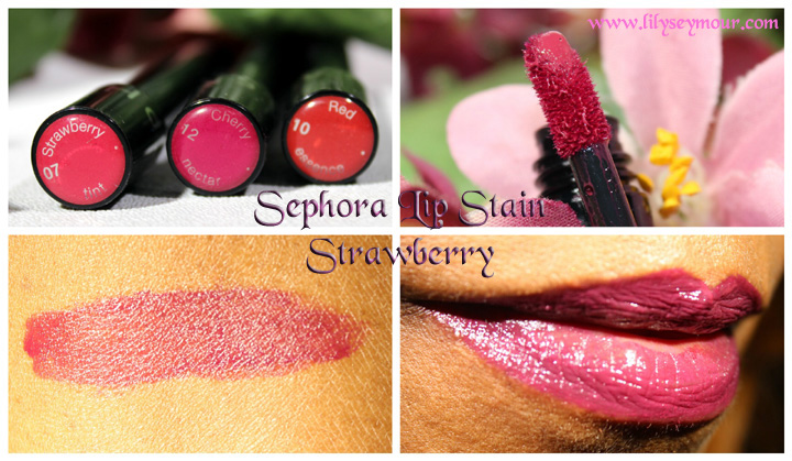 Sephora Lip Stains in Strawberry, Cherry & Red