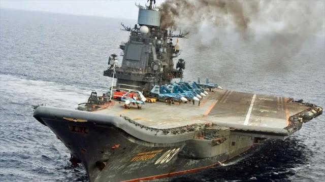 Jefe del Estado Mayor sirio visita portaaviones ruso Kuznetsov