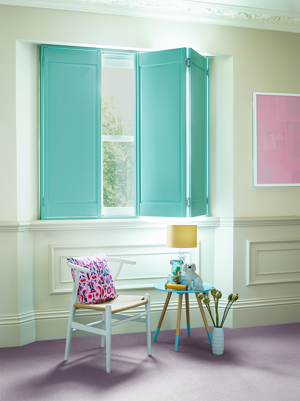 Shutterly Fabulous - French For Pineapple Blog - solid aqua shutters