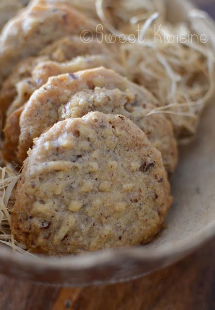 sweet kwisine, biscuits, sablés, shotbread, noix de pécan, noël, végétarien