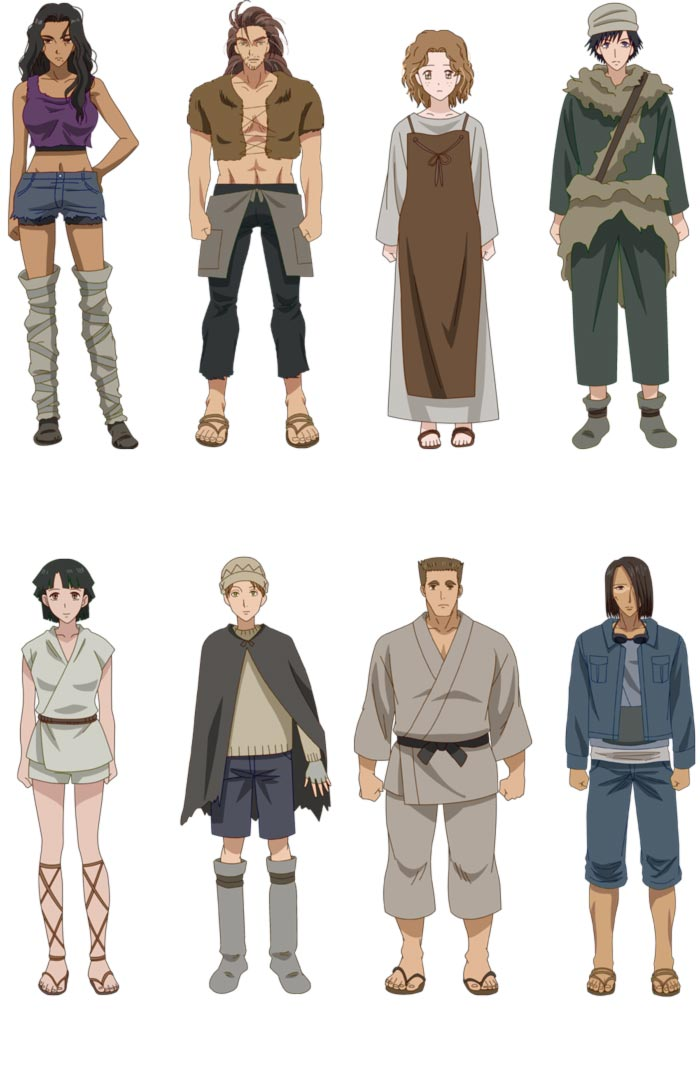 7SEEDS anime - Equipo Otoño